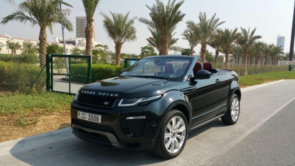 Rent Range Rover Evoque in Dubai