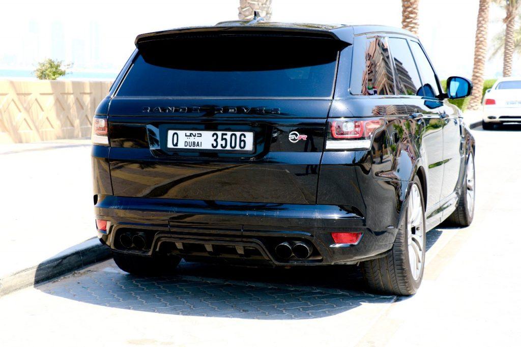 Rent Range Rover SVR 2017 back