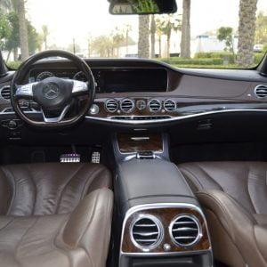 rent Mercedes Benz s500 2016 white