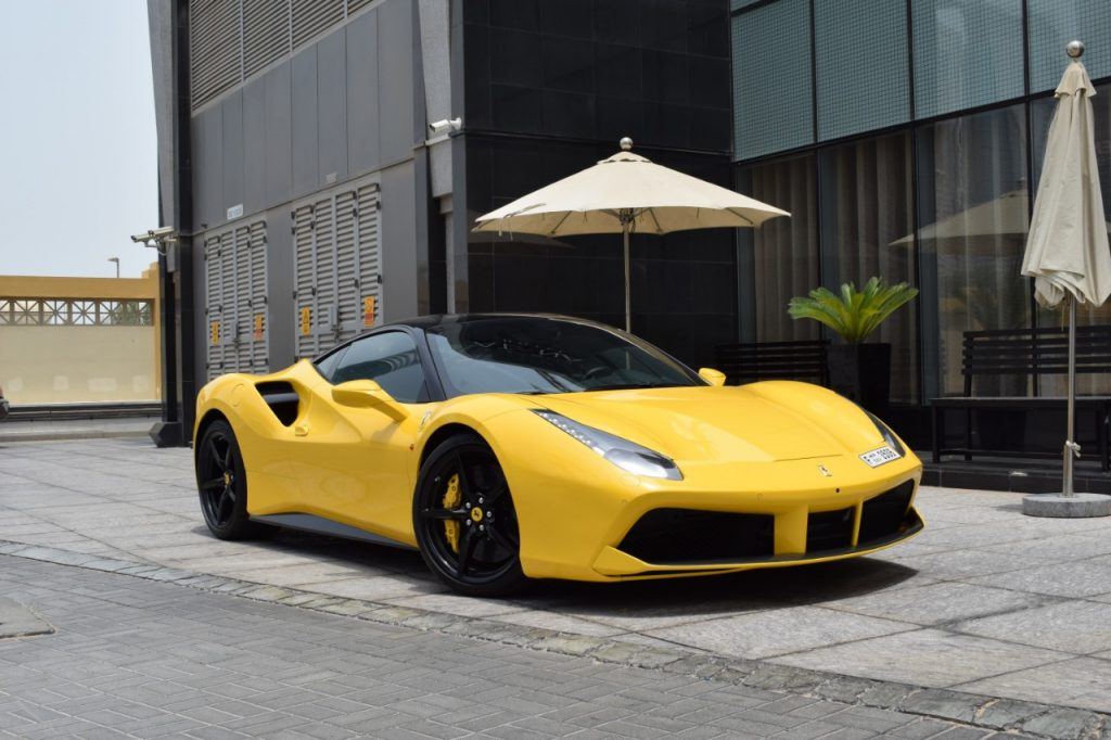 Rent Ferrari 488 GTB in dubai-at MTN rent a car