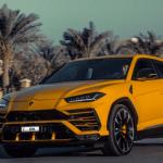 Lamborghini-Urus-2020 yellow for rent SUV in Dubai