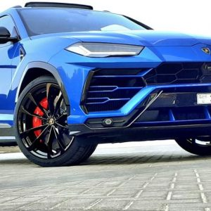 Lamborghini urus 2020 blue - Rent a luxury car