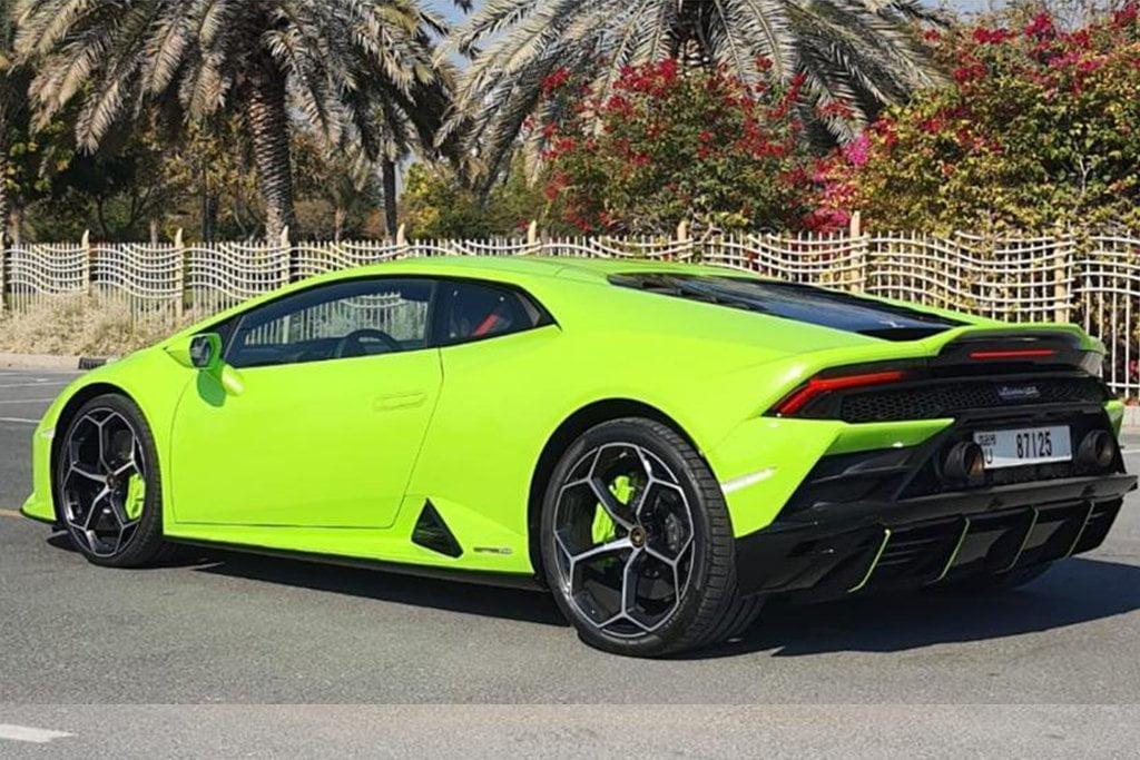 Hire Lamborghini Huracan EVO 2020 in Dubai